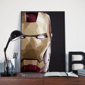 Cubism-Iron-Man-Mask-Poster